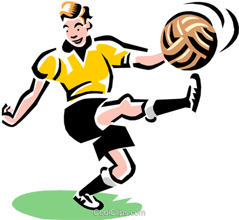 Image result for kicking a ball clipart
