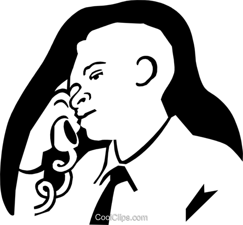 man on the phone Royalty Free Vector Clip Art illustration peop3071