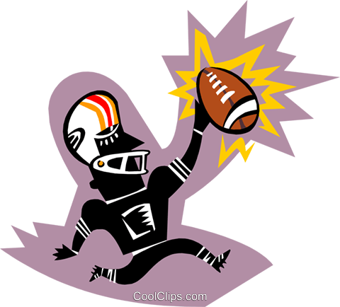 football player Royalty Free Vector Clip Art illustration peop3081