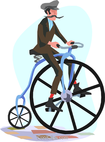 Man with a bicycle Royalty Free Vector Clip Art illustration trav0082