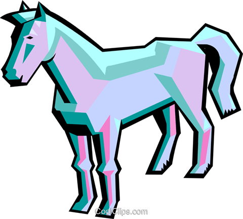 horse Royalty Free Vector Clip Art illustration anim1942