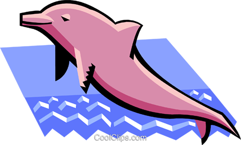 dolphin Royalty Free Vector Clip Art illustration anim1943