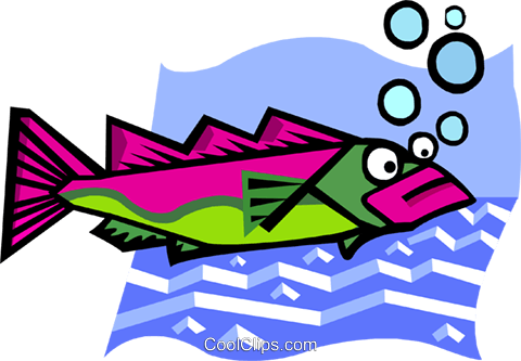 fish Royalty Free Vector Clip Art illustration anim1944