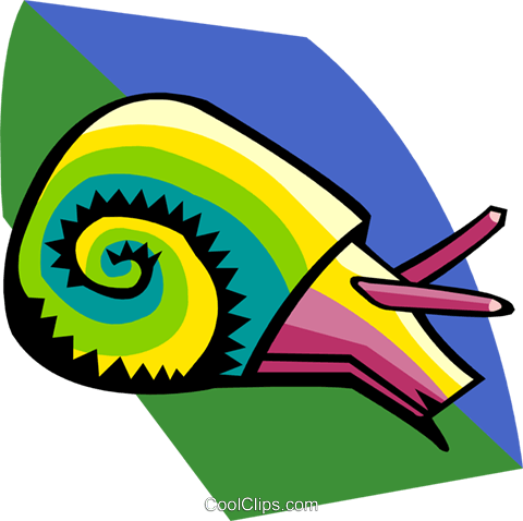 snail Royalty Free Vector Clip Art illustration anim1947
