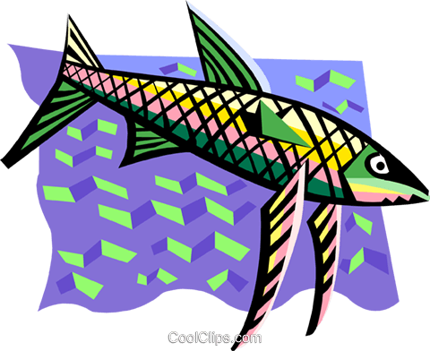 fish Royalty Free Vector Clip Art illustration anim1950