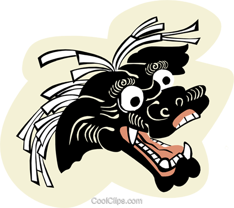Playful Dragon Royalty Free Vector Clip Art illustration anim1960