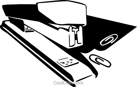 stapler Royalty Free Vector Clip Art illustration busi1564