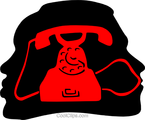 telephone communications Royalty Free Vector Clip Art illustration busi1567