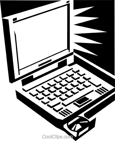 laptop computer Royalty Free Vector Clip Art illustration busi1575