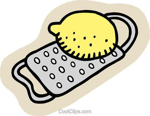 lemon with grate Royalty Free Vector Clip Art illustration food1049