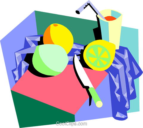in the kitchen Royalty Free Vector Clip Art illustration food1050