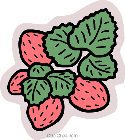 strawberries Royalty Free Vector Clip Art illustration food1053