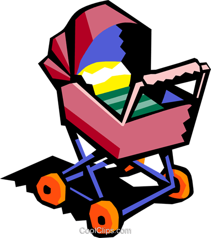 baby carriage Royalty Free Vector Clip Art illustration hous1280