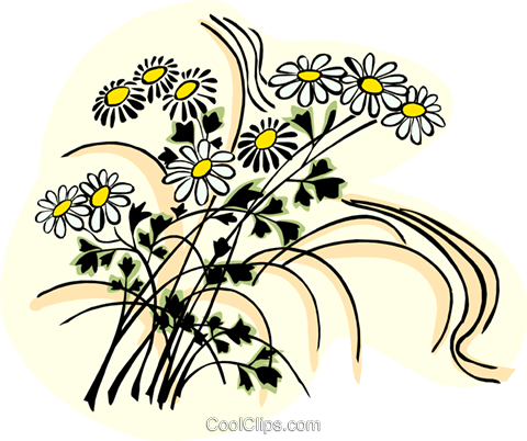 flowers Royalty Free Vector Clip Art illustration natu0855