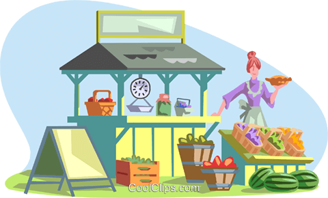 market scene Royalty Free Vector Clip Art illustration peop3092