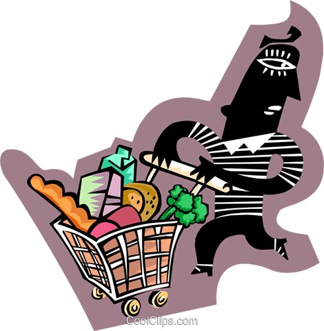 shopping Royalty Free Vector Clip Art illustration peop3112