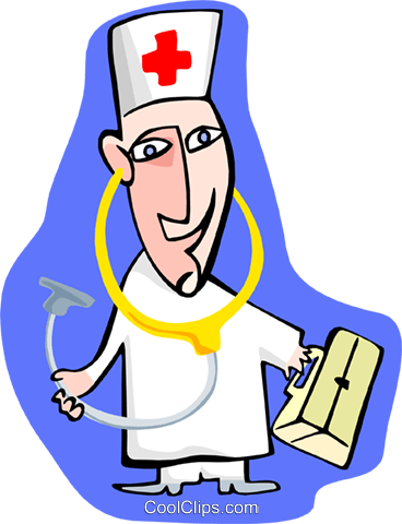 doctor Royalty Free Vector Clip Art illustration peop3118