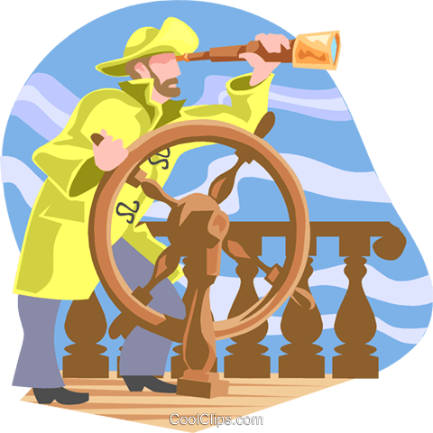 ship's captain Royalty Free Vector Clip Art illustration peop3143