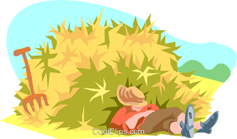 sleeping on the job Royalty Free Vector Clip Art illustration peop3144