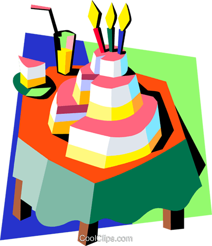 birthday/birthday cake Royalty Free Vector Clip Art illustration spec0286