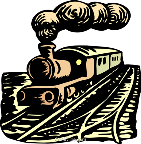 Steam train Royalty Free Vector Clip Art illustration tran0925