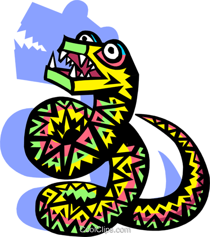 snake Royalty Free Vector Clip Art illustration anim1973