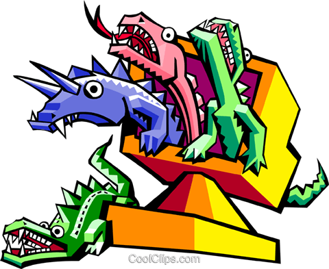 technology creatures Royalty Free Vector Clip Art illustration anim1974