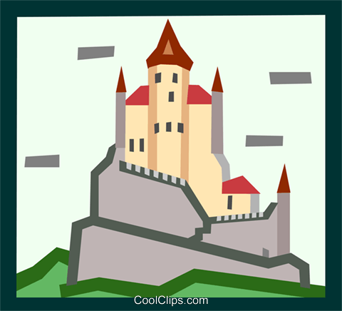 castle Royalty Free Vector Clip Art illustration arch0470