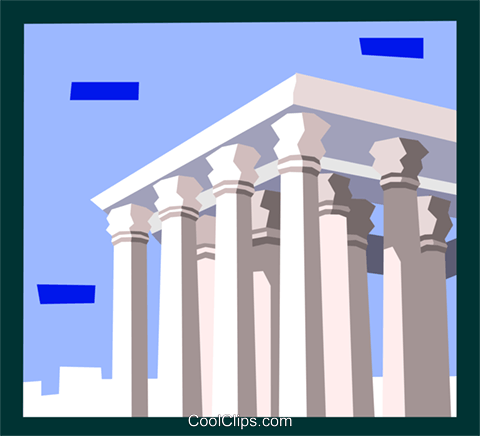 Roman architecture Royalty Free Vector Clip Art illustration arch0471
