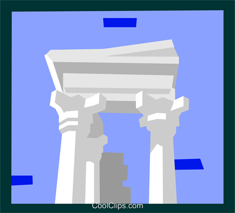 roman architecture Royalty Free Vector Clip Art illustration arch0472