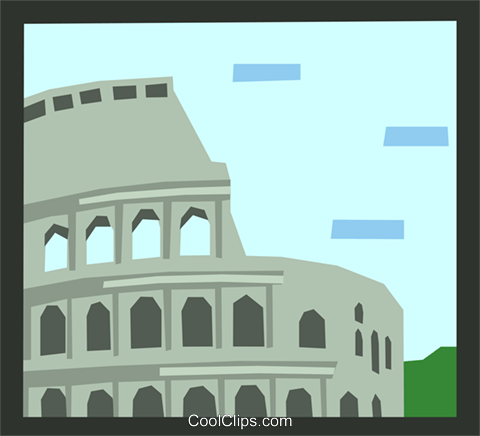 Roman architecture Royalty Free Vector Clip Art illustration arch0474
