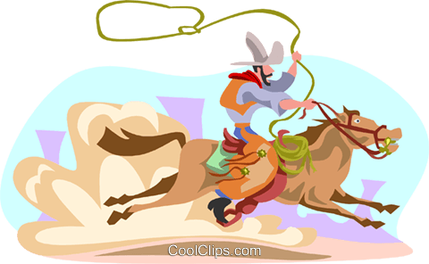 Rodeo rider Royalty Free Vector Clip Art illustration divi0083