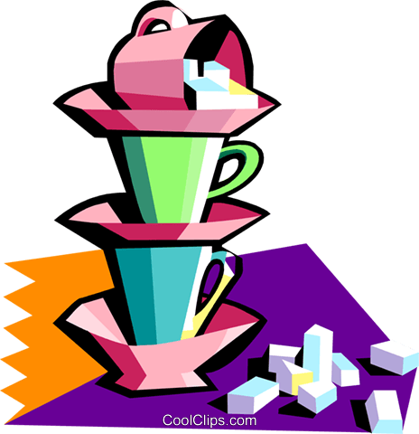 coffee time Royalty Free Vector Clip Art illustration food1060