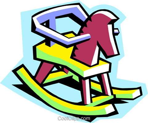 rocking horse Royalty Free Vector Clip Art illustration hous1286