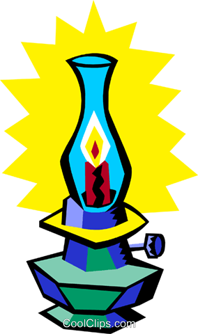 oil lamp Royalty Free Vector Clip Art illustration hous1287