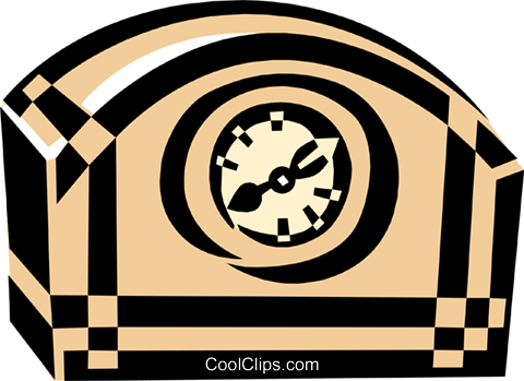 clock radio Royalty Free Vector Clip Art illustration hous1290