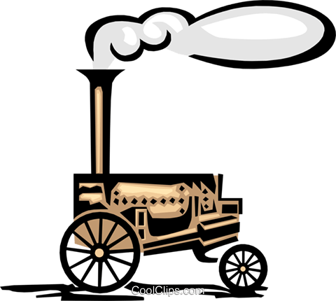 steam engine Royalty Free Vector Clip Art illustration indu0916