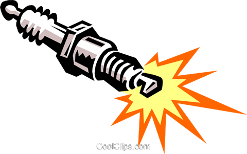 spark plug Royalty Free Vector Clip Art illustration ...