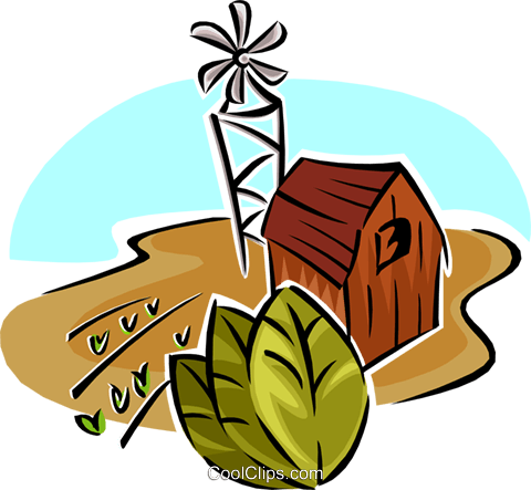 tobacco farm Royalty Free Vector Clip Art illustration natu0865