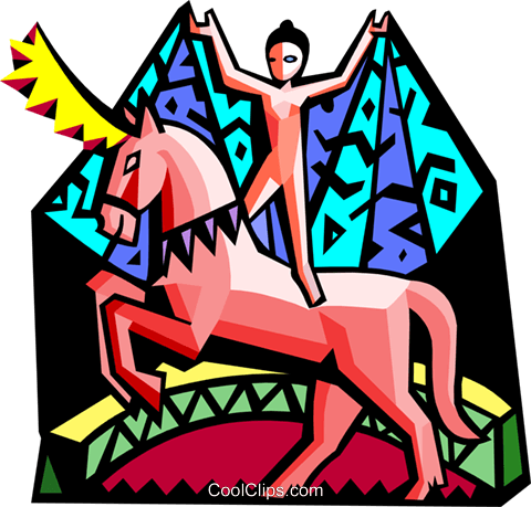 The circus Royalty Free Vector Clip Art illustration peop3153