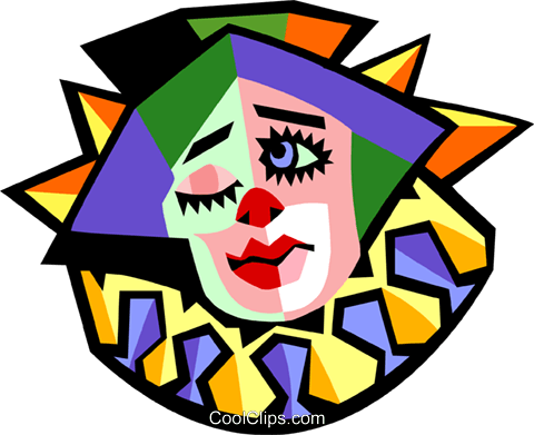 clown Royalty Free Vector Clip Art illustration peop3154
