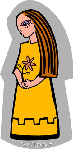 symbolic woman Royalty Free Vector Clip Art illustration peop3159