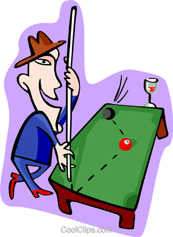 pool player Royalty Free Vector Clip Art illustration peop3163