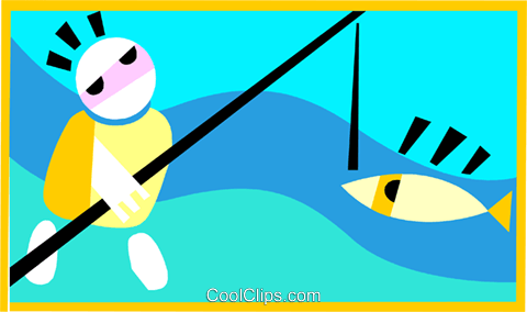 fishing Royalty Free Vector Clip Art illustration peop3170
