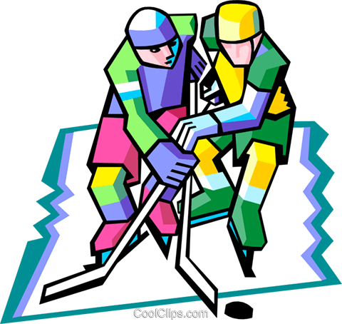 hockey players Royalty Free Vector Clip Art illustration peop3175
