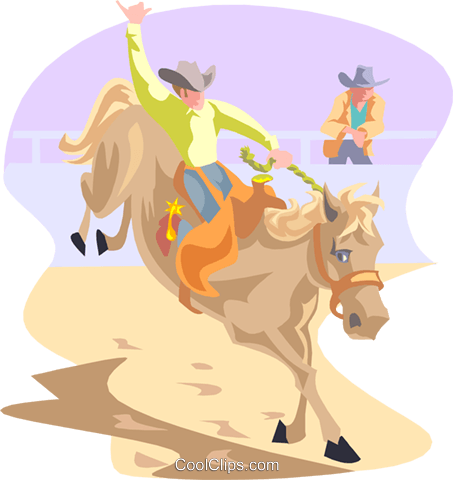 rodeo Royalty Free Vector Clip Art illustration peop3185