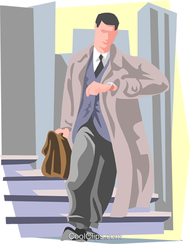 on the way to work Royalty Free Vector Clip Art illustration peop3188