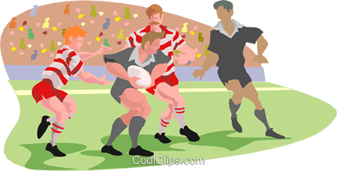 rugby players Royalty Free Vector Clip Art illustration peop3191
