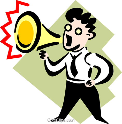 announcement Royalty Free Vector Clip Art illustration peop3200