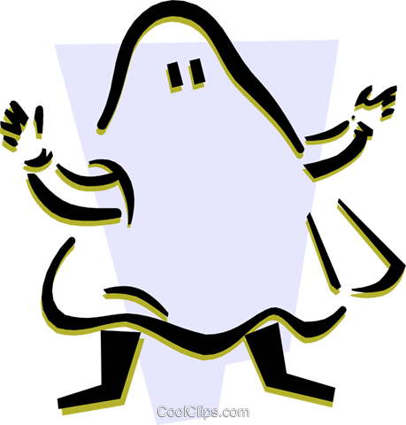 Boo! Royalty Free Vector Clip Art illustration peop3201